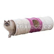 XXL tunel pre mačky, plyšový 3 otvory, ø 35 × 115 cm