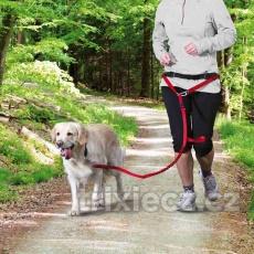 Pás na běh s nylonovým vodítkem pro střední a větší psy 70–120 cm/ 12 cm, vodítko: 1,10–1,50 m/ 20 mm