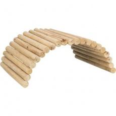 Dřevěný most pro králíky, nastavitelný, neošetřené dřevo, 69 x 40 cm