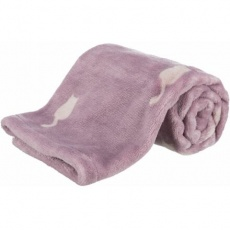 LILLY plyšová deka, 70 x 50 cm, starorůžová