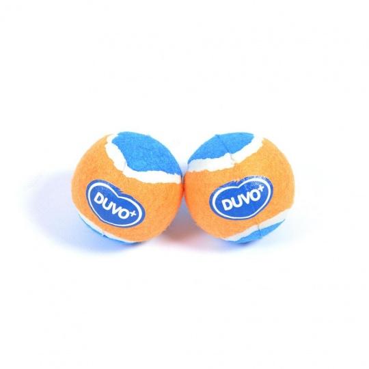 Hračka DUVO+ tenisové loptičky M - 2 ks/bal.- priemer 6 cm - oranžovo/modré