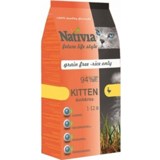 Nativia Cat Kitten Duck & Rice 1,5 kg