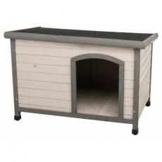 Natura bouda pro psa s rovnou střechou M-L 104 x 72 x 68 cm, šedá