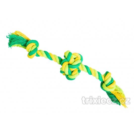 HipHop Lano s loptou s  2 ramenami, bavlnený 17 cm / 30 g limetková, zelená