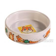 Keramická miska pro křečka s obrázkem 90 ml/8 cm