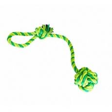 Přetahovadlo HipHop bavlněný míč 9 cm, 58 cm / 300 g sv.zelená, tm.zelená, khaki