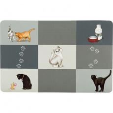 Prostírání Patchwork kočka 44 x 28 cm šedé
