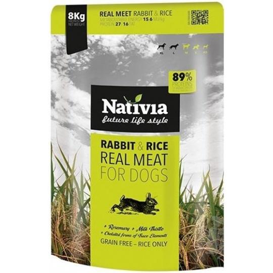 NATIVIA Dog Real Meat Rabbit & Rice 8 kg + DOPRAVA ZDARMA