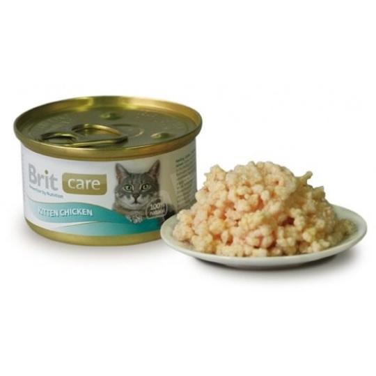 Brit Care Cat Kitten konz. kuracie prsia 80g