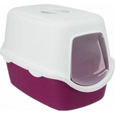 WC VICO kryté s dvířky, bez filtru 56 x 40 x 40 cm, vínová/bílá
