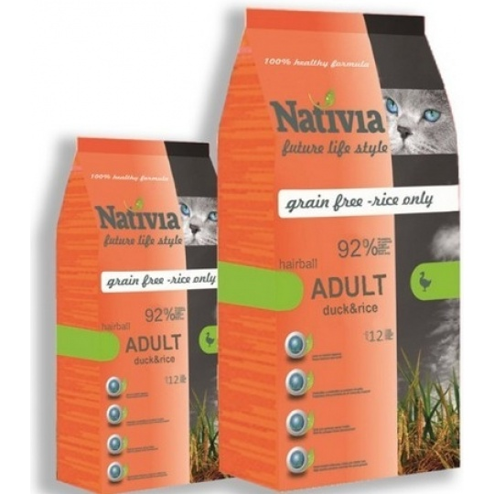 Nativia Adult Duck & Rice Hairball 1,5 kg