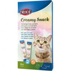 Krémový snack v sáčku pro kočku 6 x 15 g