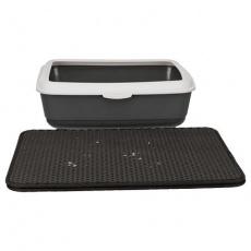Podložka před kočičí WC, EVA, 40x55cm, černá