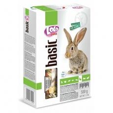 LOLO BASIC kompletní krmivo pro králíky 500 g krabička