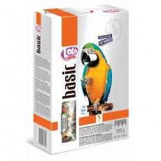 LOLO BASIC kompletní krmivo pro velké papoušky 900 g krabička