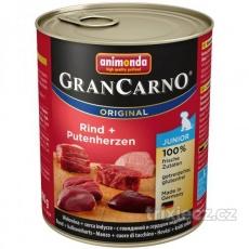 Animonda Gran Carno Junior Hovädzie & morčacie srdcia 800 g