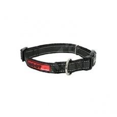 Zolux Obojok pes MOOV nastaviteľný čierny 15mm 30 - 37cm