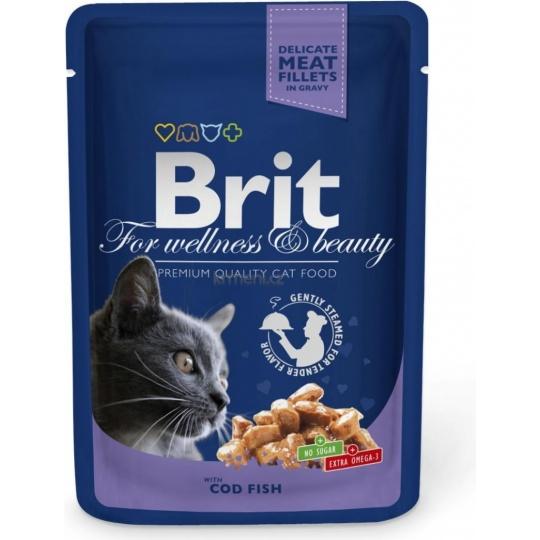 BRIT Premium cat Kapsička Adult Cod Fish 100 g