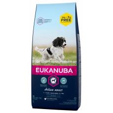 Eukanuba Dog Adult Medium 15kg +3kg zdarma