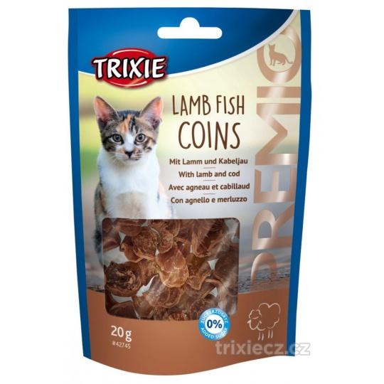 Darček k nákupu nad 50 €  PREMIO Lamb Fish Coins - mince s jahňacím a treskou 20 g