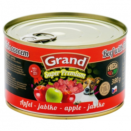 Grand SuperPremium Hovädzie & Jablko 380 g