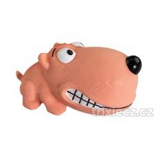 Mini psíček BigHead 9 cm, so zvukom, latex HipHop