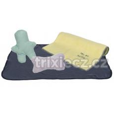 JUNIOR souprava (flízová deka 76x50cm, 2 hračky, ručník 50x40cm)