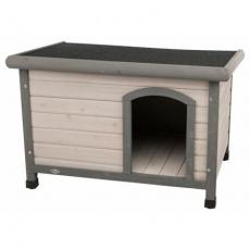 Natura bouda pro psa s rovnou střechou S-M 85 x 58 x 60 cm, šedá