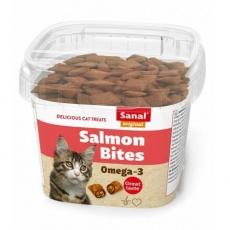 SANAL SALMON BITES - křupavé polštářky s lososem 75 g - DOPRODEJ