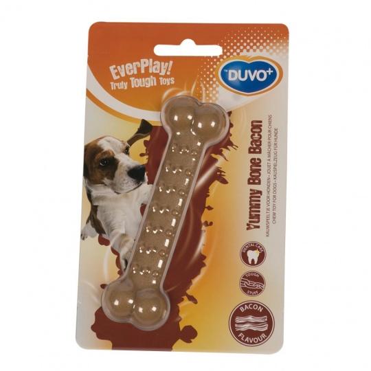 Hračka DUVO+ Kosť žuvacia s príchuťou slaniny 11 cm