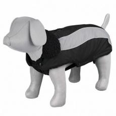 Zimní obleček MARNE černý, s průvlekem na vodítko XS 30 cm - DOPRODEJ