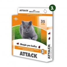 Attack obojok antiparazitárny 35cm mačka