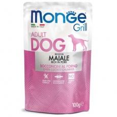 MONGE GRILL kapsička s vepřovým masem pro psy 100 g