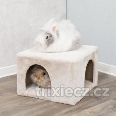 Plyšová jaskyňa pre králíky 36 x 25 x 36 cm