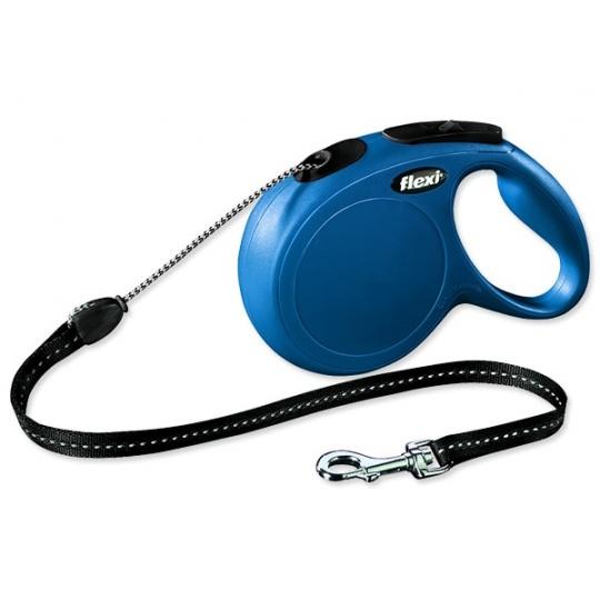 Flexi Classic NEW lanko S (do 12 kg) 5 m modrá