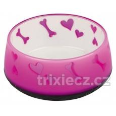 TRIXIE Lovely Dog miska ťažká, plastová 0,6 l , 15 cm