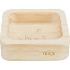 Miska pro hlodavce dřevěná, čtveratá, 60 ml/8 × 8 cm