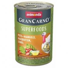 GRANCARNO Superfoods krůta,mangold,šípky,lněný olej 400 g pro psy