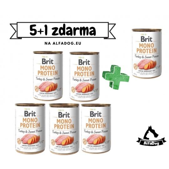 Brit konzerva Mono Protein Turkey & Sweet Potato 400 g