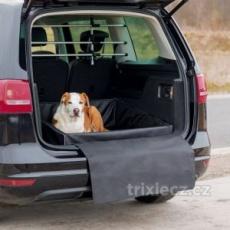 Pelech pre psa do batožinového priestoru auta 95x75 cm čierny