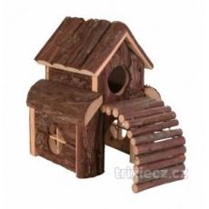 Natural Living drevený domček dvojposchodový FINN 13 x 20 x 20 cm
