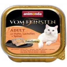 V.Feinsten CORE kuřecí, losos filet + špenát pro kočky 100g
