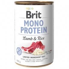 Brit konzerva Mono Protein Lamb & Brown Rice 400 g