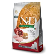 N&D Dog Low Grain Puppy Medium&Maxi Chicken & Pomegranate 12 kg