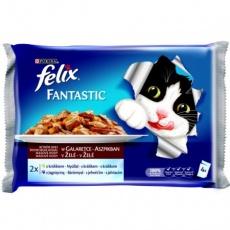 Felix Fantastic multipack s králikom a  jahňacím v želé 48 x 100 g