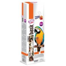 LOLO SMAKERS XXL 2 klasy ovocné pre veľké papagáje 450g