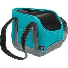Transportní taška ALEA, mini plemena, 16x20x30, do 5kg, petrolejová/šedá