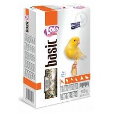LOLO BASIC kompletní krmivo pro kanáry 500 g krabička