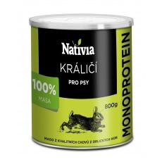 NATIVIA Konzerva Králičia svalovina  8 x 800 g