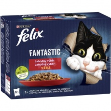 Felix Fantastic s kuraťom, hovädzím, králikom a jahňacím v želé 12× 85 g
